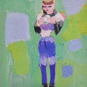 A girl in the garden. Russel Galleries