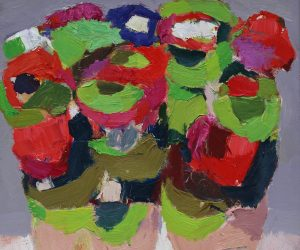 Geraniums entwined 15 x16 ins