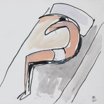 Resting figure